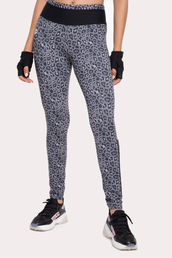 Legging Long Cheetah Plata NGX