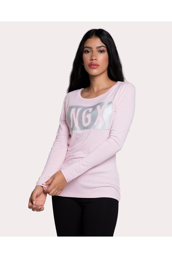 Polera M/L For Real Rosado NGX