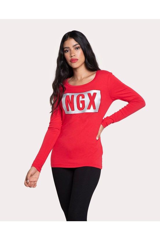 Polera M/L For Real Rojo NGX
