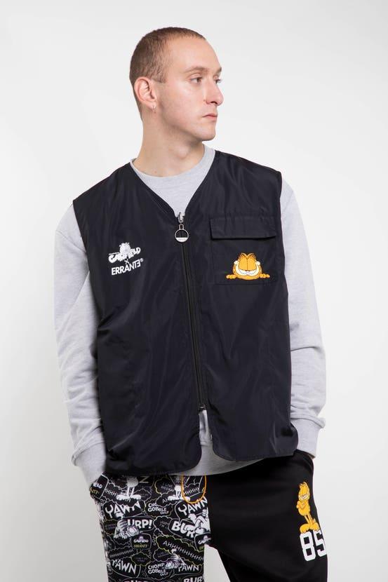 Vest Garfield Reversible The King Negro Errante Unisex