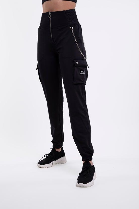 Jogger I Don´T Care Negro Niquel NGX