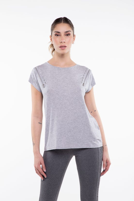 Polera M/C Well Known Two Gris NGX