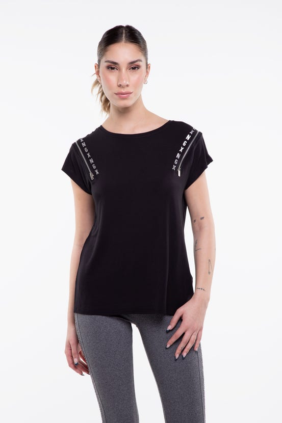 Polera M/C Well Known Two Negro NGX