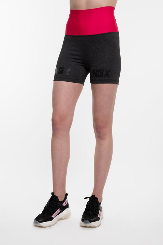 Legging Short Band Division Gris/Fucsia NGX