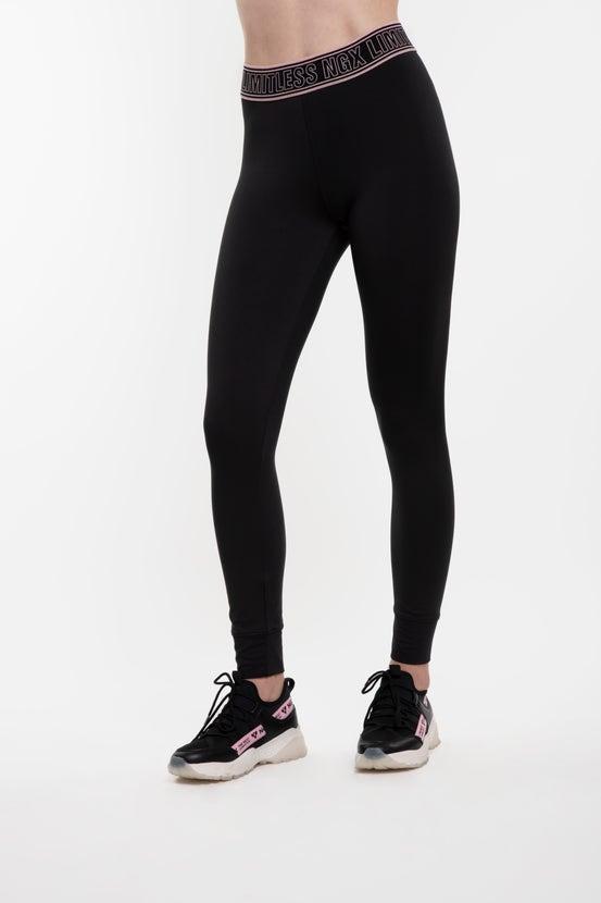 Legging Long Fascination Negro/Rosado NGX